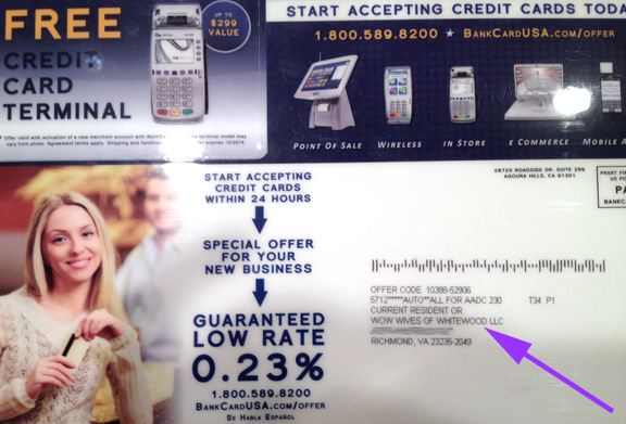 Our first piece of junk mail!