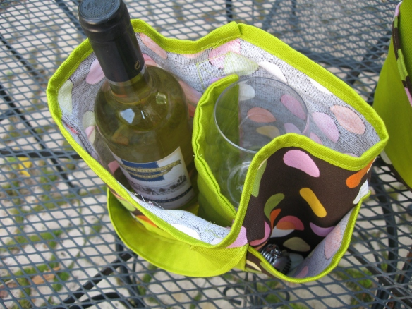 Wine Totes Top View