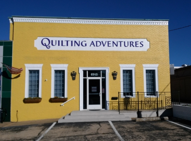 Quilting Adventures Outside