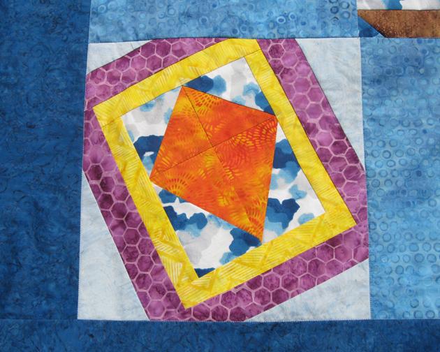 Windblown kite block